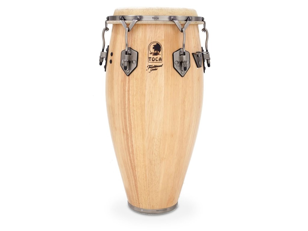 "Conga Toca Percussion 3911T, Traditional Serie, Quinto, 11"", 2 Ply Eiken, Chroom Hardware, Naturel"
