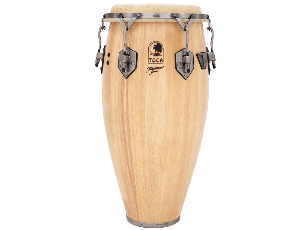 "Conga Toca Percussion 3911-3/4T, Traditional Serie, Conga, 11 3/4"", 2 Ply Eiken, Chroom Hardware, Naturel"