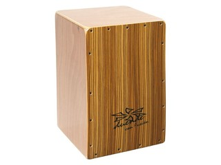 Cajon Duende Percussion CONFUSION, Frontplate dennen hout, Body okoum� hout, 1 snaar