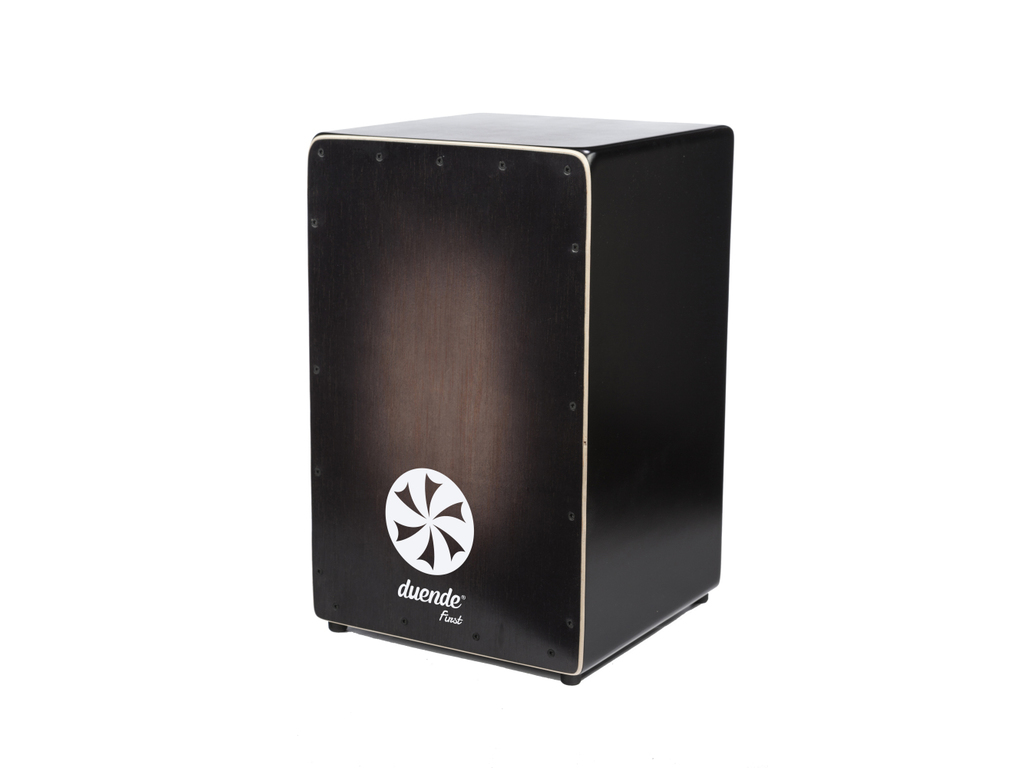 Cajon Duende Percussion FIRST, Frontplate MDF, Body kalabo hout, 1 snaar in V-vorm met ST-1 systeem