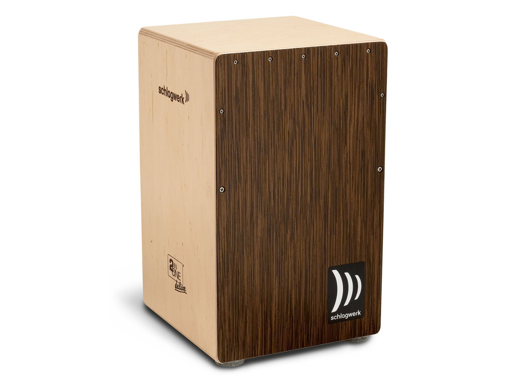Cajon Schlagwerk Percussion CP430, 2inOne Deluxe, Wenge Frontplate, Els Body, 50 x 30 x 30cm