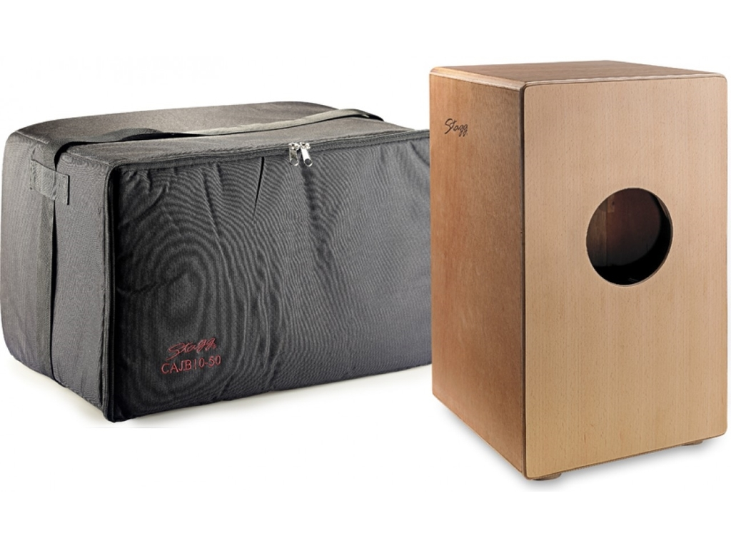 Cajon Stagg CAJ-50 Cajon Naturel With Black Bag