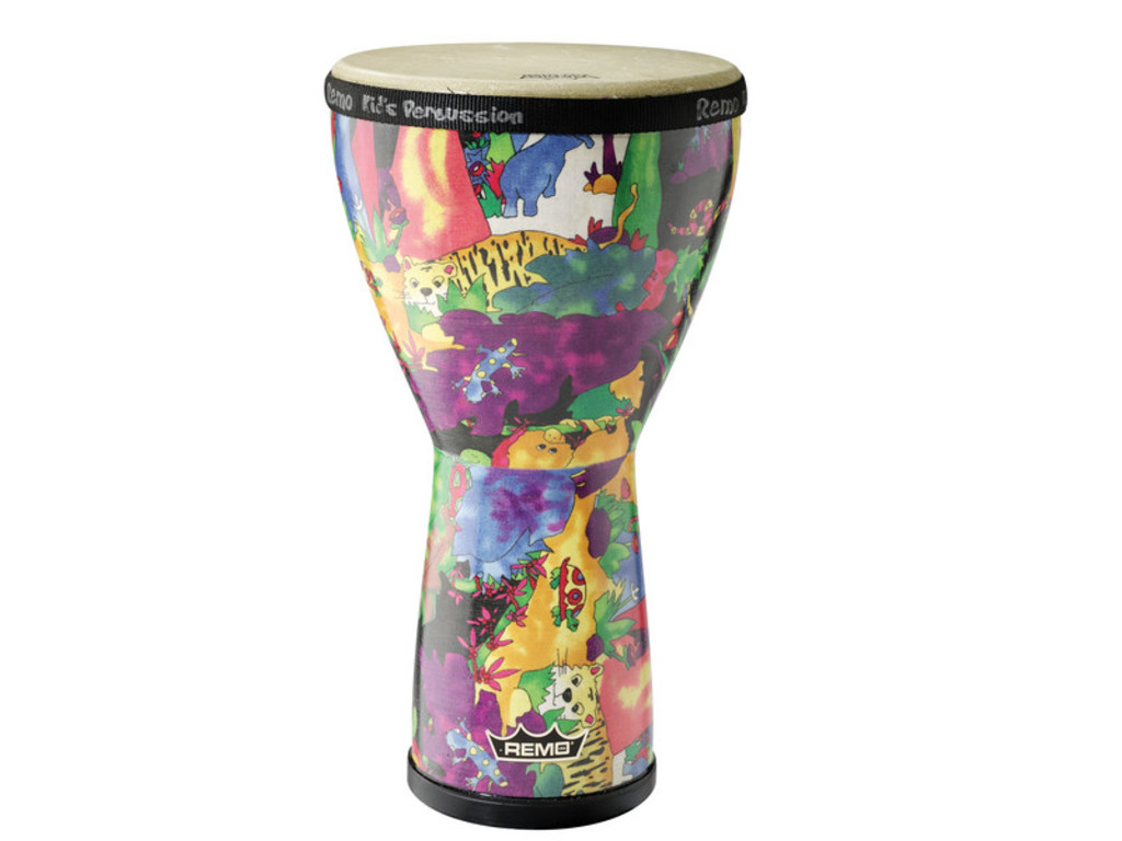 "Djembe Remo KD-0608-01, Kids Percussion, Rain Forest, 8"", Hoogte 14"", Skyndeep Remo Vel"