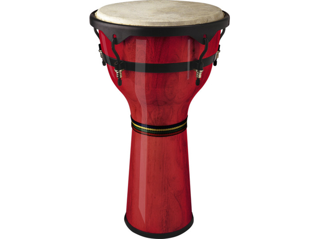 "Djembe Stagg DWM-12-R, 12"", Hoogte 58cm, Rood"