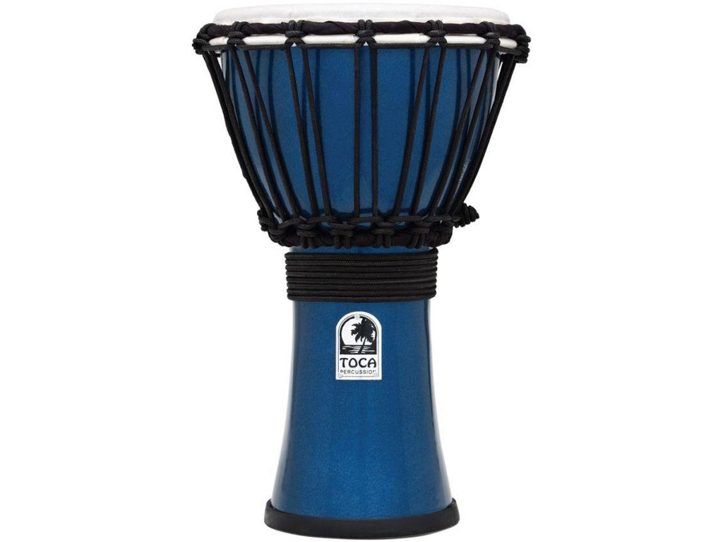 "Djembe Toca Percussion TFCDJ-7MB, Freestyle Serie, Colorsound, 7"", Hoogte 12 1/2"", Synthetisch shell, Blauw Metallic"