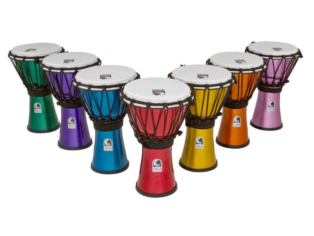 Djembe Toca Percussion TFCDJ-7MS, 7-delige set, Freestyle Serie, Colorsound, 7""