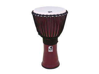"""Toca Freestyle 12/"""" Djembe Drum Antique Silver"""