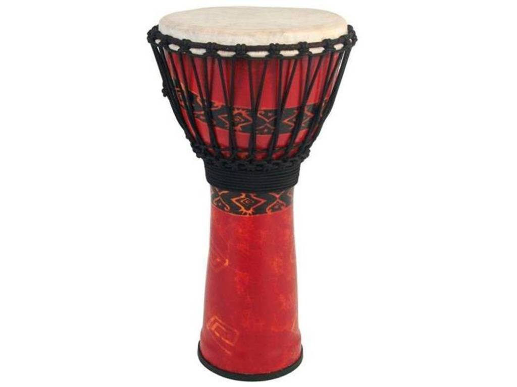 "Djembe Toca Percussion SFDJ-12RP, Freestyle Serie, 12"", Hoogte 24"", Synthetische Shell, Rope Tuned, Bali Rood"