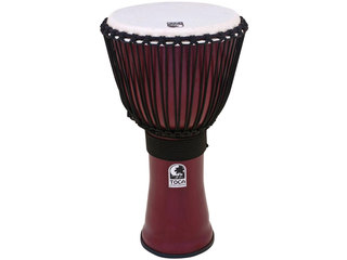 "Djembe Toca Percussion TF2DJ-14R, Freestyle II Serie, 14"", Hoogte 26"", Synthethic Shell, Rope Tuned, Donkerrood"