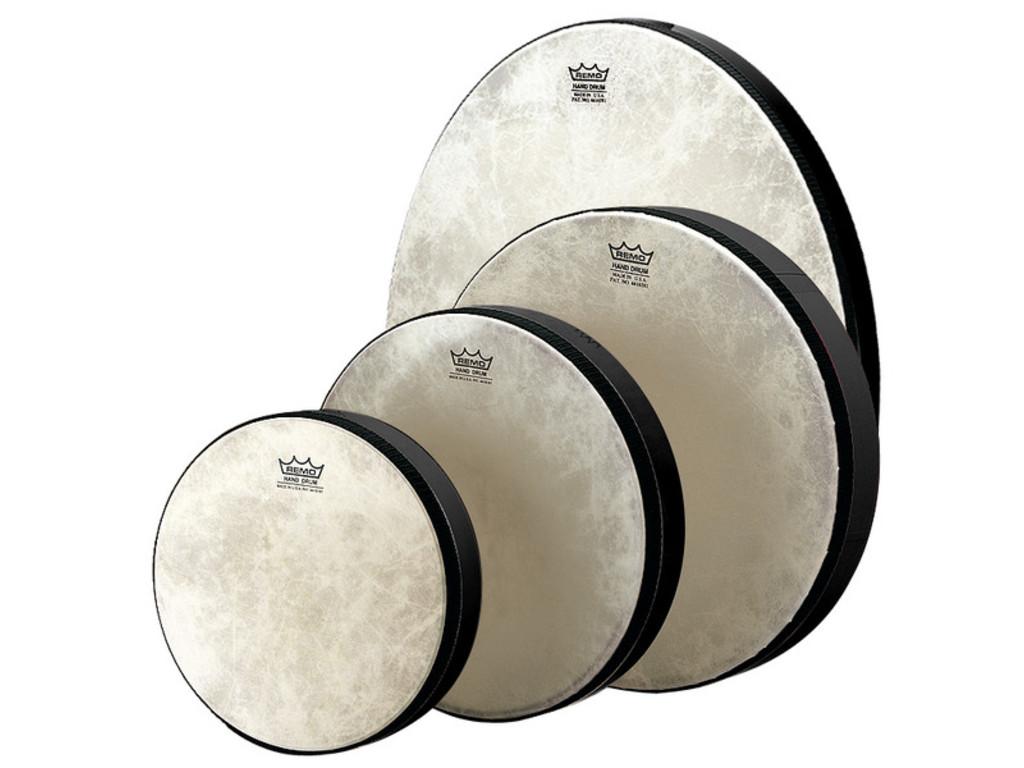Frame Drum Remo HD-7514-70, Designer Hand Drum, High Toon, Black, 14\