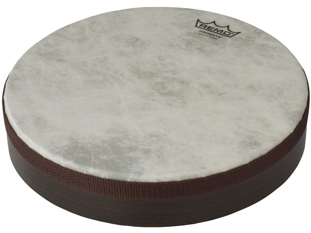 "Frame Drum Remo HD-8516-00, Fiberskyn Serie, 16"", gestemde hand drum, Fiberskyn vel, Low Pitch, wit"
