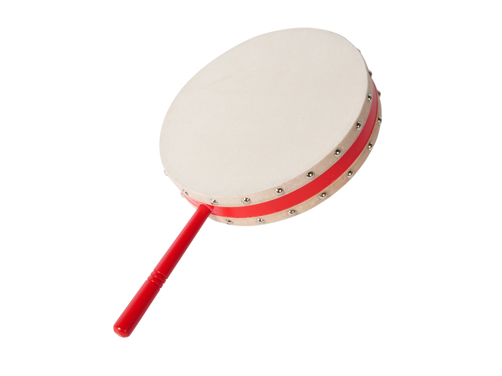 "Hand Drum Vogue TC-4, calfskin, 10"", with handgrip and beater"