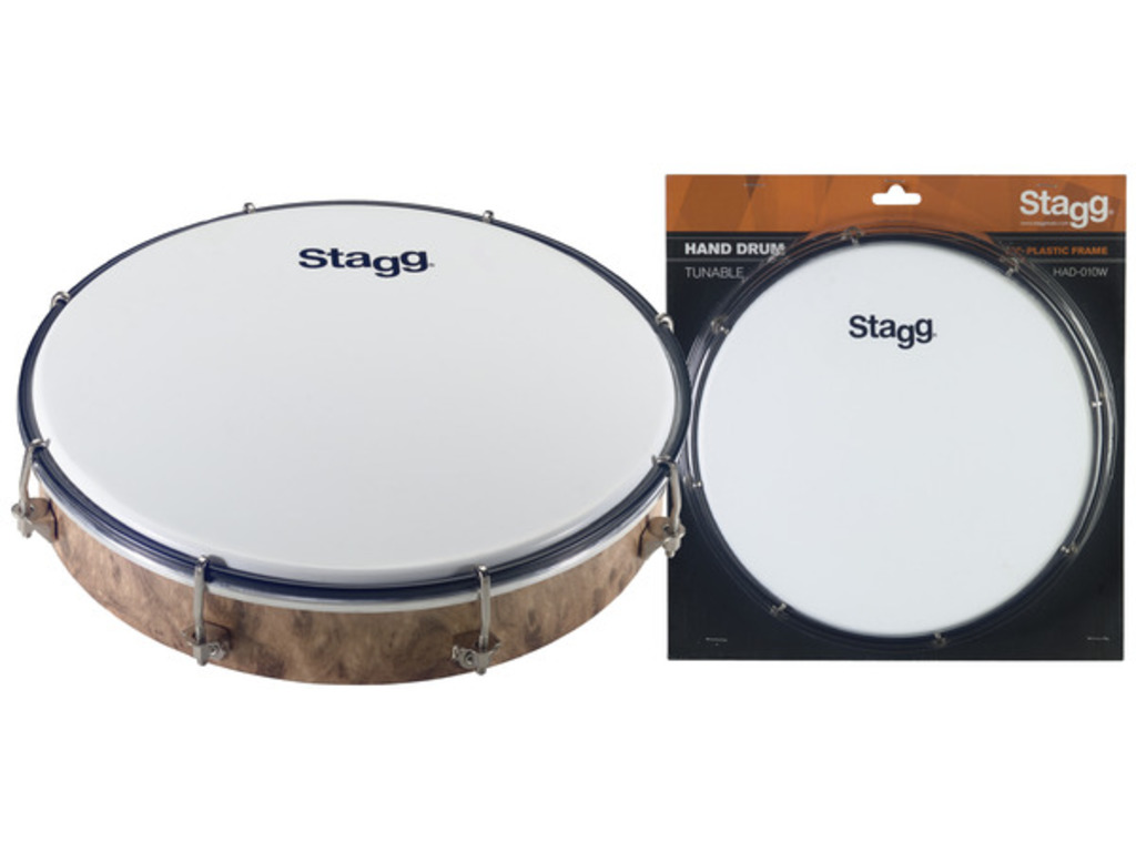 Hand Drum Stagg HAD-010W, Stembare, Plastic Hand Drum, 10""