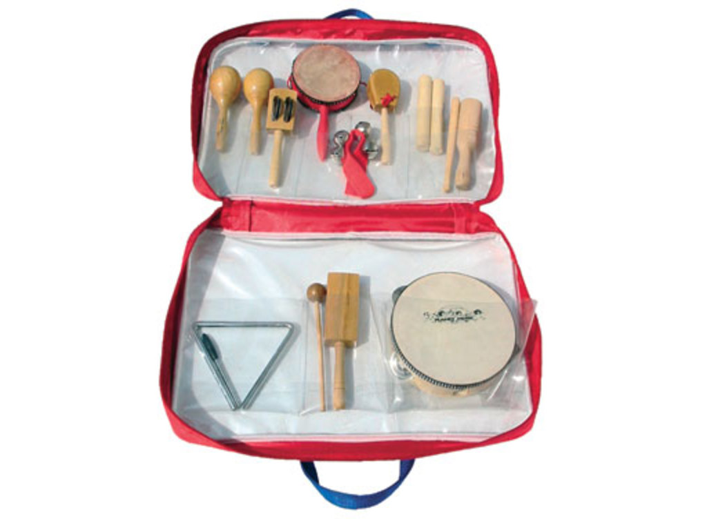 Multi Percussie Set Planet Music DP1001, 10-delig in opbergtas