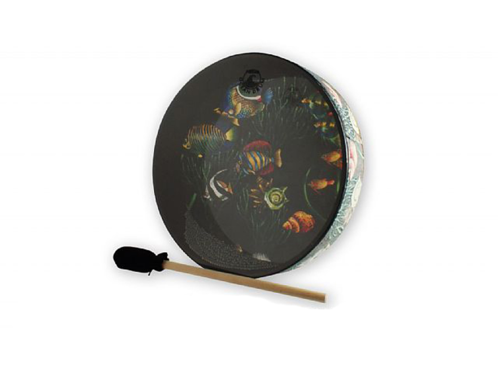 "Ocean Drum Remo ET-0212-10, medium toon, 12"", vissen design"
