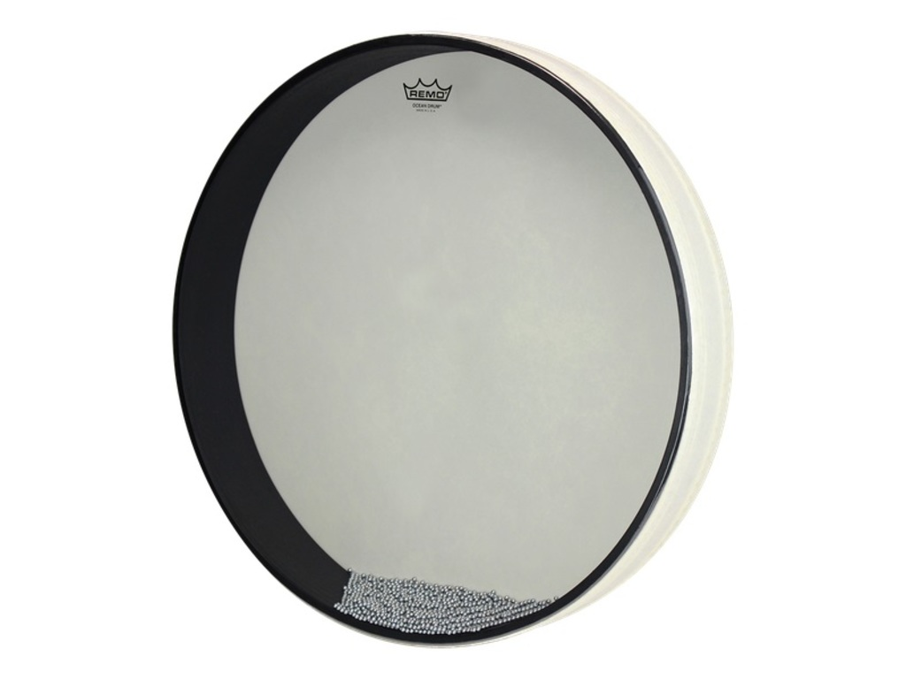 Ocean Drum Remo ET-0212-00, met klopper, medium toon, wit, 12""