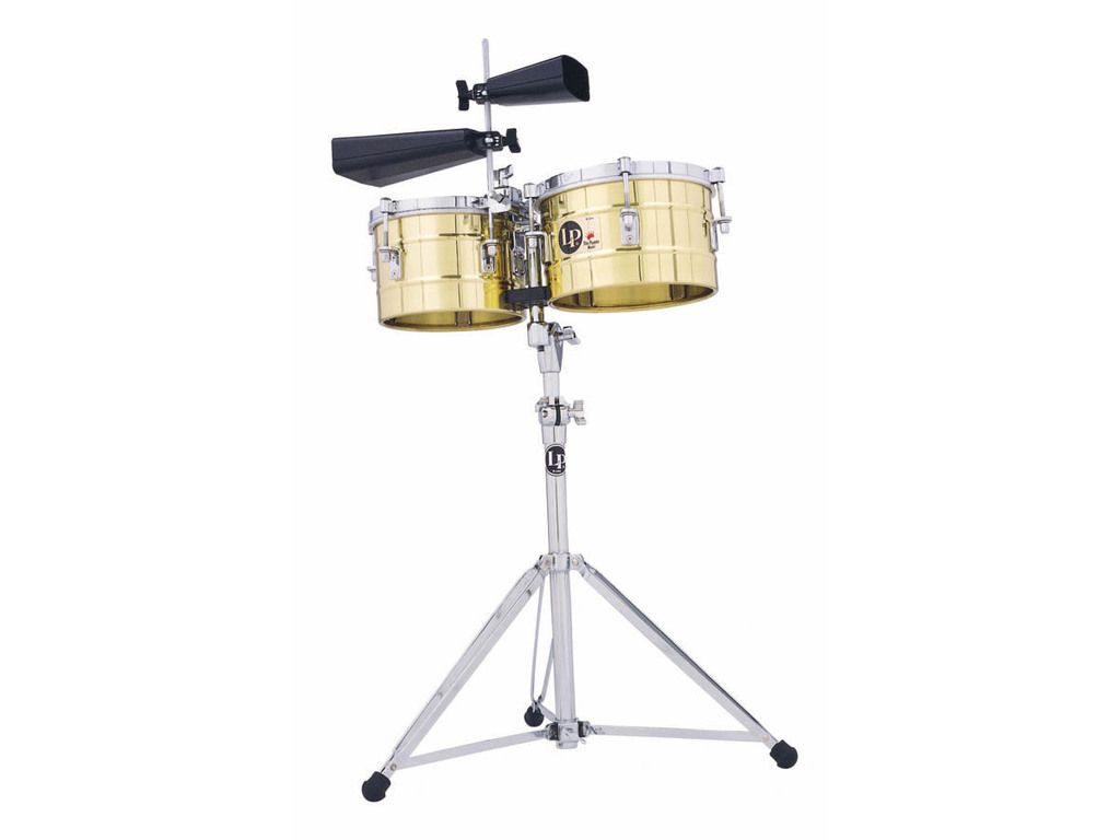 "Timbales LP272-B, LP Tito Puente Timbalitos, 9 1/4"" & 10 1/4"", 10"" Diep, Messing Shells, inclusief statief"