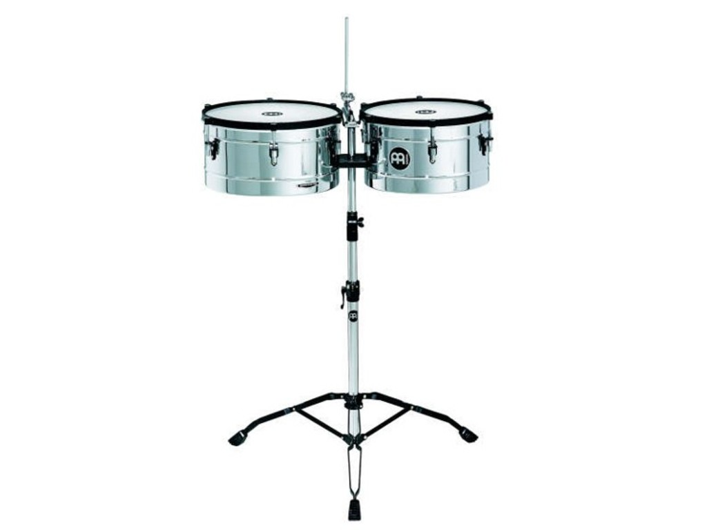 "Timbales Meinl MT1415B, Marathon Serie, 14"" & 15"", Roestvrij Staal, Messing, inclusief statief"