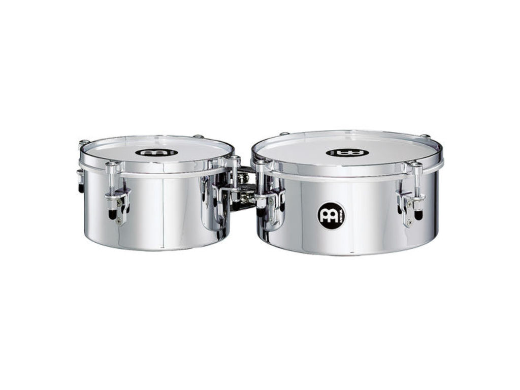 "Timbales Meinl MIT810CH, Mini Timbales, 8"" & 10"", Roestvrij Staal, Chroom"