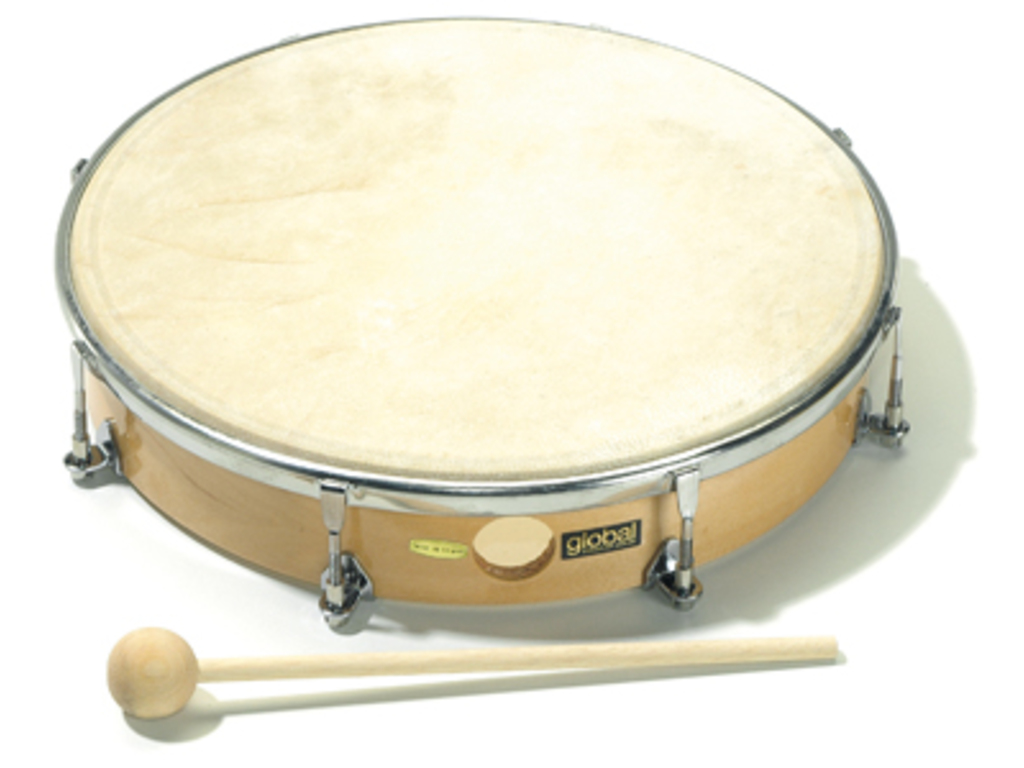 "Hand Drum Sonor CGTHD10N, tuneable, Natural Head, 10"", (25cm), including beater"