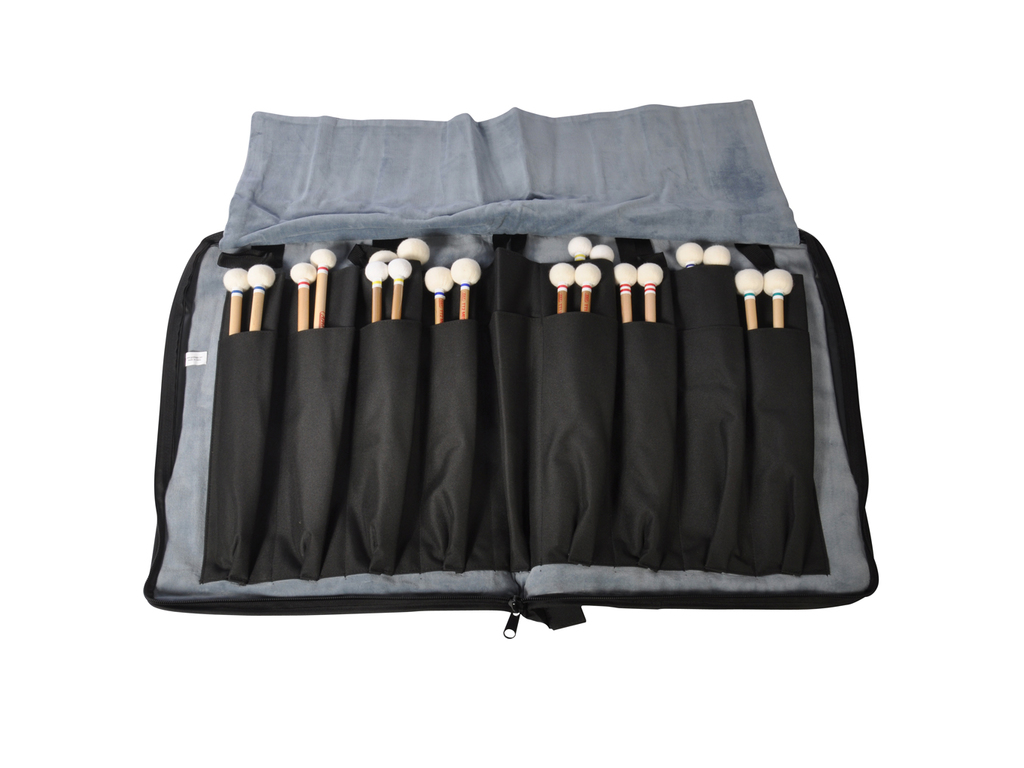 Mallet Bag Adams AD-103, Deluxe series, large, for 18 pair Mallets, with Strap and side pocket