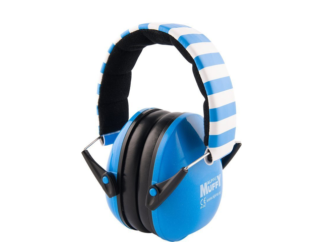 Protection Auditive Alpine, Muffy Blue, Casque pour descendants A 2 ans vieux