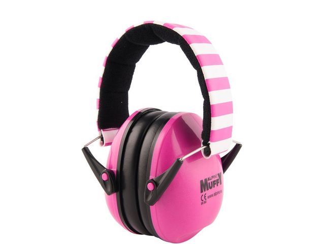 Protection Auditive Alpine, Muffy Pink, Casque pour descendants A 2 ans vieux