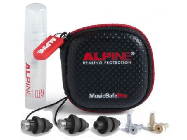 Hearing Protection Alpine, MusicSafe Pro, universal Hearing Protection, Earplugs, Black, including etui, cleaning spray