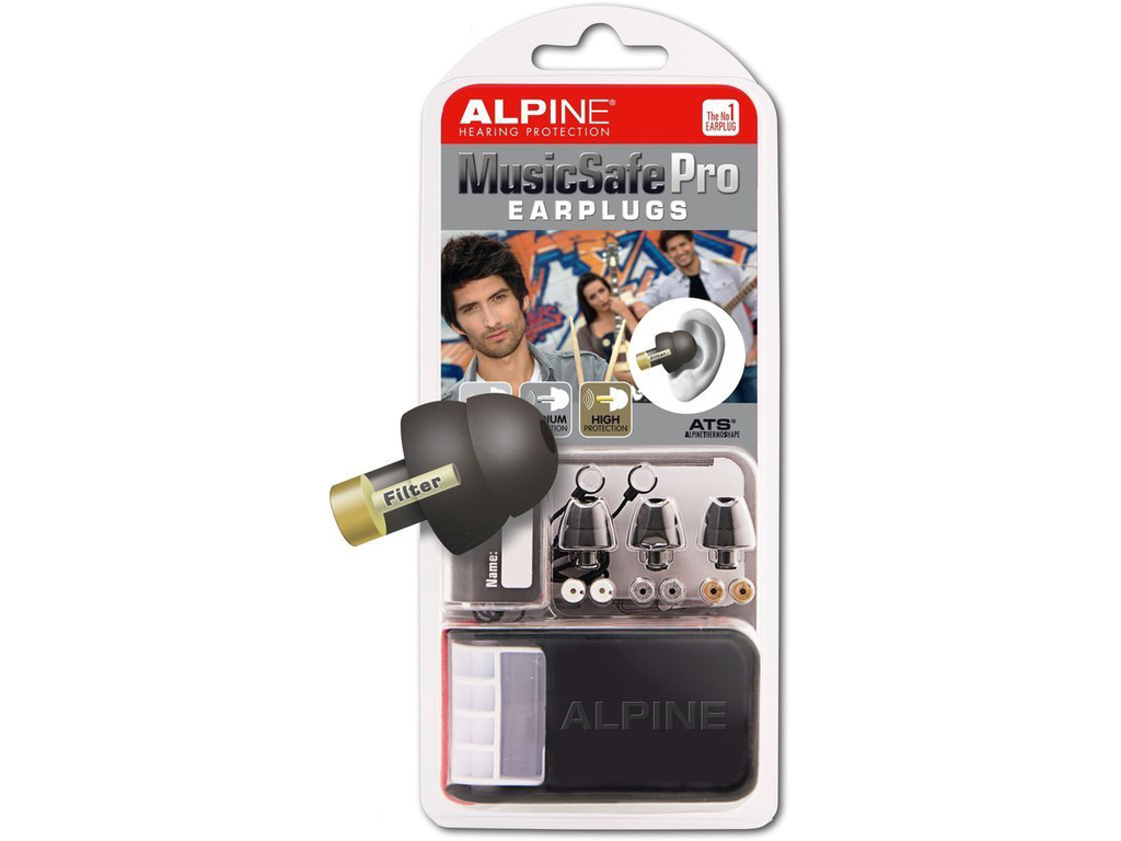 Hearing Protection Alpine, MusicSafe Pro, universal Hearing Protection, Earplugs, Black