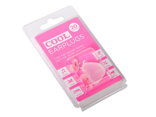 Hearing Protection Cool Earplugs CE-Pink, universal Hearing Protection 20 dB ( rose )
