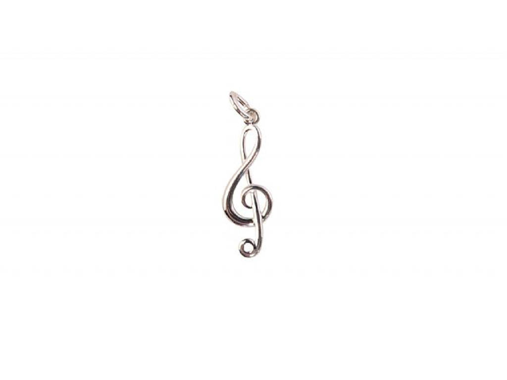 Kettinghanger Art Of Music Clé De Sol / Vioolsleutel, Sterling Argent