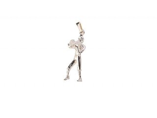 Kettinghanger Art Of Music Trompettist, Sterling Silver