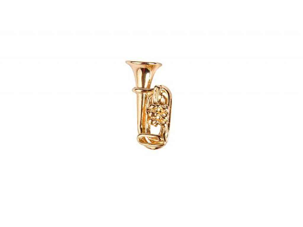 Pin Art of Music Tuba, Goldplated