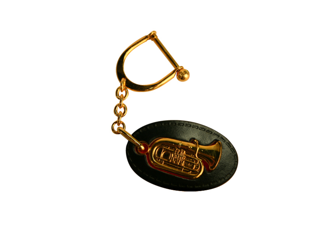 Key rings Tuba, gold
