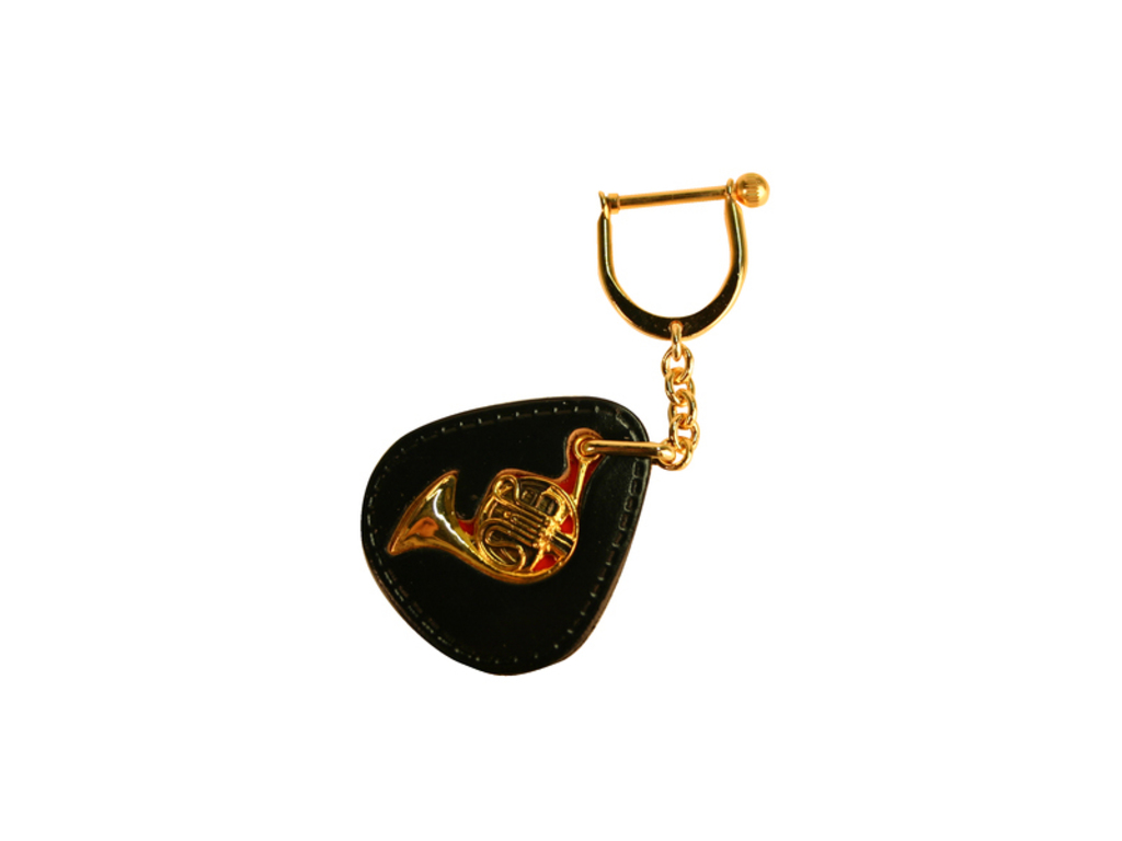 Key rings French Horn, gold