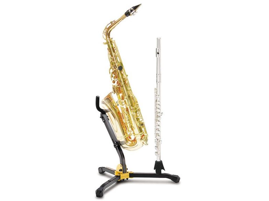 Stand Saxophone Hercules 532B, double, for Alto or Tenor Saxophone and klarinet/fluit
