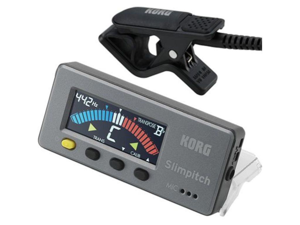 Tuner Korg Slimpitch, Chromatic Tuner + Contact microphone ( Black )