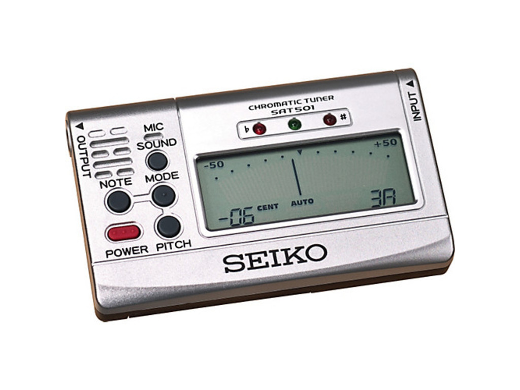 Tuner Seiko SAT 501, Stylisch Chromatic tuner, long battery life