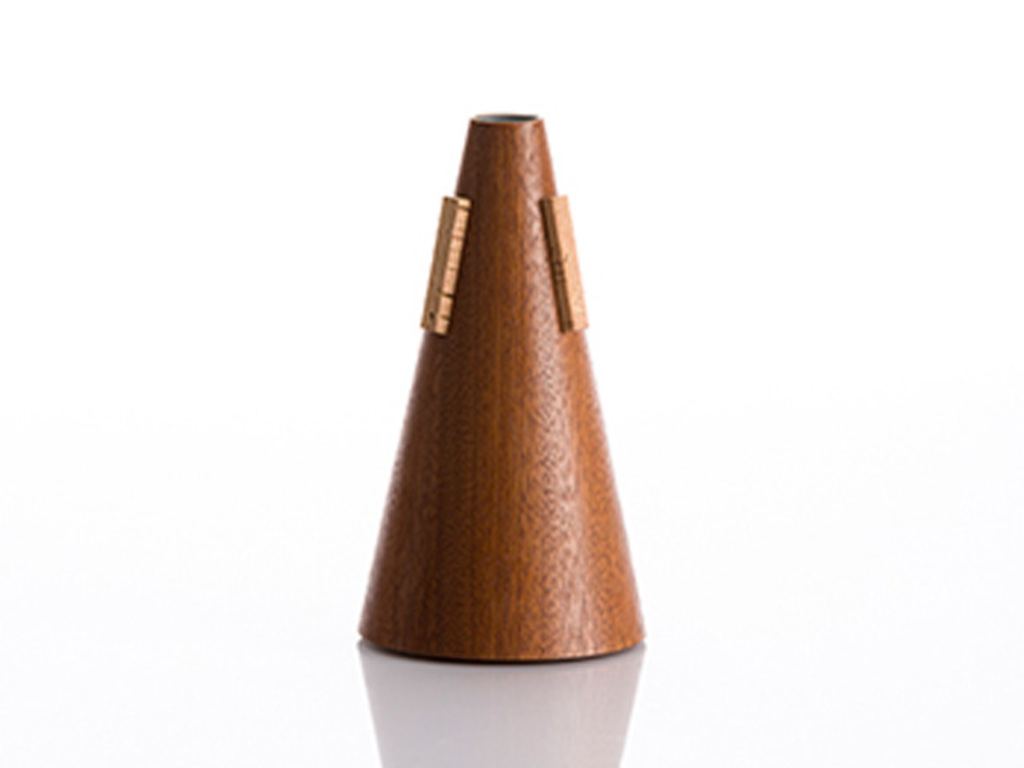 Demper Bugel HC-mutes (Tools4Winds), straight, mahogany wood