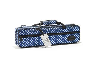 Etui Dwarsfluit Beaumont BFCA-BP, Blue Polka Dot, Box case voor fluit met C-voet