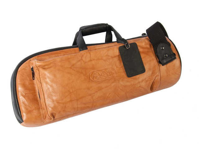 Etui Trumpet Adams, Single Deluxe, leather brown, Bag, with side pocket and Strap