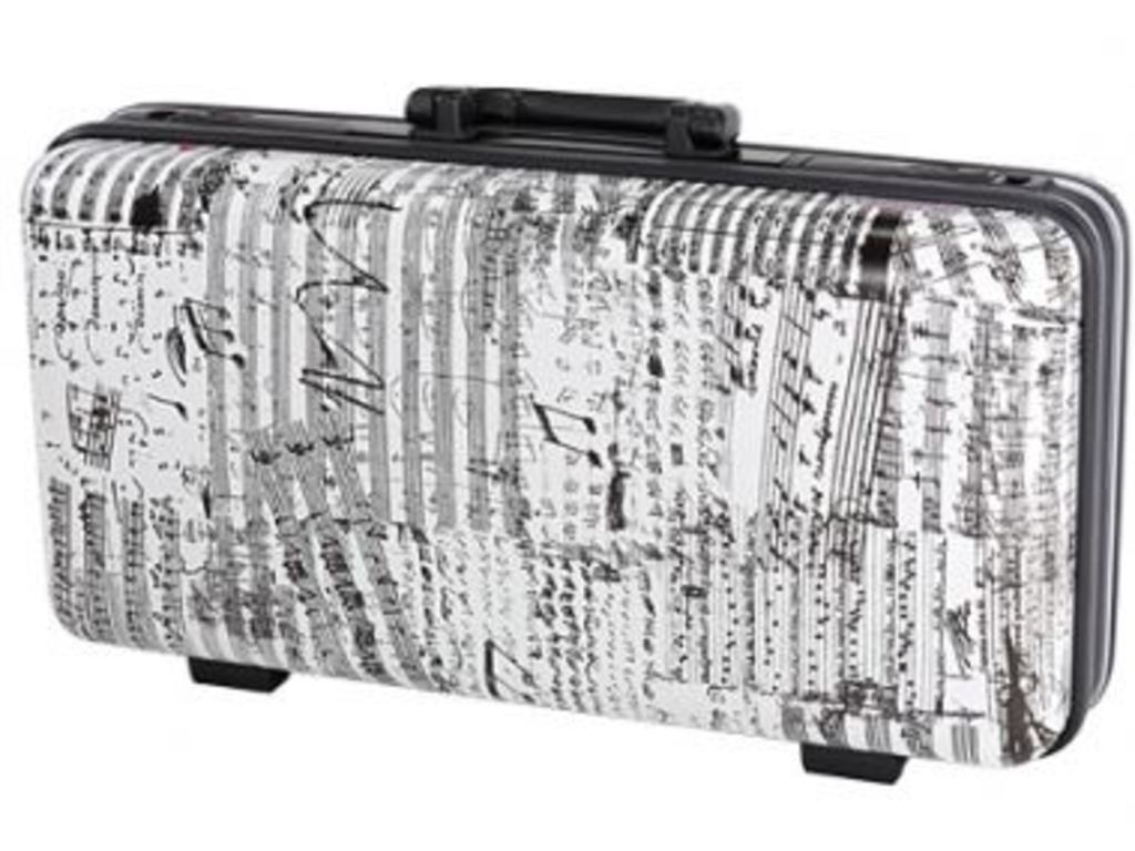 Etui Trumpet GL-cases GLC-TRU-J10, Model GLC (koffer), white with Black tekening, hard Case
