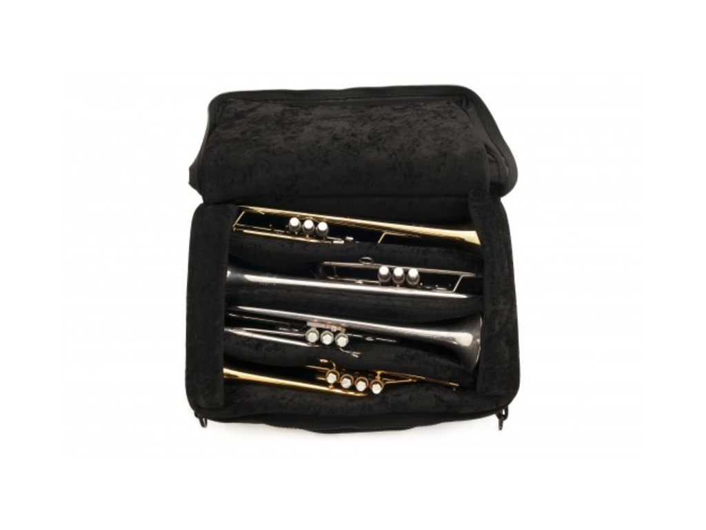 Etui Trompet Brass Bags, Quad Trumpet Leather, rugzak model, 4 extra boards, metal fittings, tas