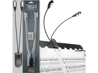 Lamp Stagg MUS-LED 4, voor lessenaar, 2x dubbel led 4