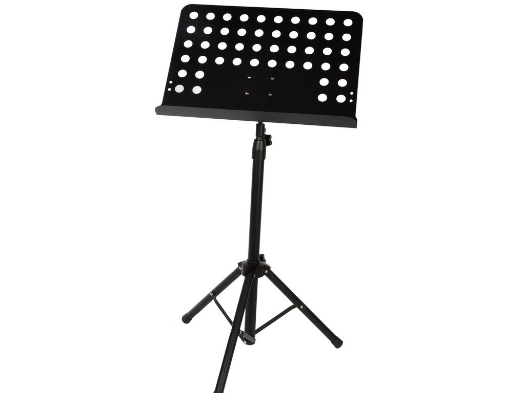 Pupiter Adams, Model BK-001, Music stand, Not foldable plate with holes, Black