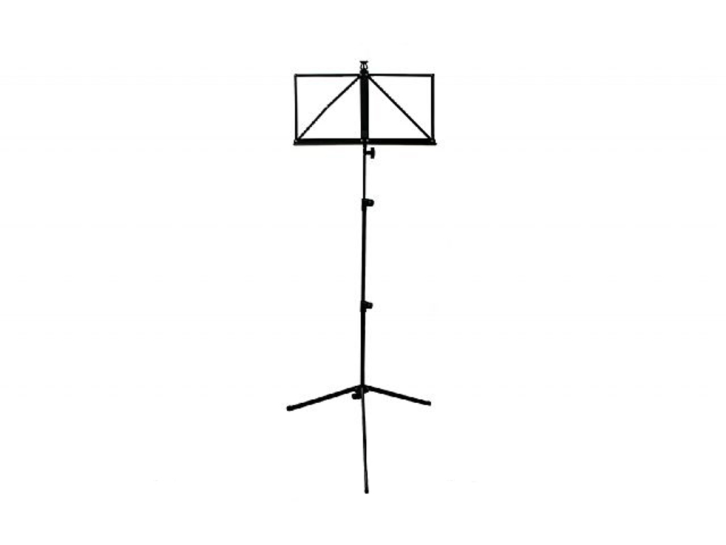 Pupiter Adams, Model 204, Music stand, light Model, Foldable, including Cover, Black