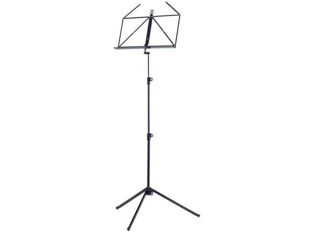 Pupiter K&M 100/1, Music stand deluxe 3 delig folding Model, Black