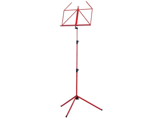 Pupiter K&M 100/1, Music stand deluxe 3 delig folding Model, Red