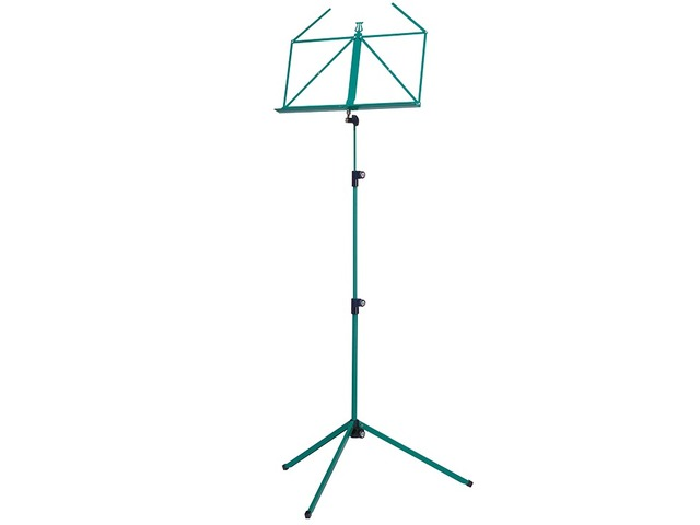 Pupiter K&M 100/1, Music stand deluxe 3 delig folding Model, green
