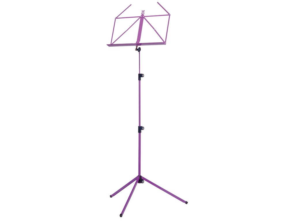 Pupiter K&M 100/1, Music stand deluxe 3 delig folding Model, Purple